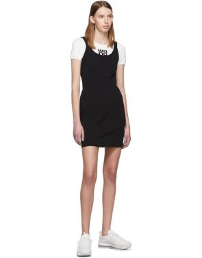 photo White and Black Sport Layering Logo Mini Dress by alexanderwang.t - Image 5