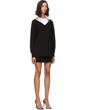 photo Black and White Bi-Layer Sweater Dress by alexanderwang.t - Image 2