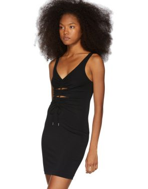 photo Black Crepe Jersey Dress by alexanderwang.t - Image 4