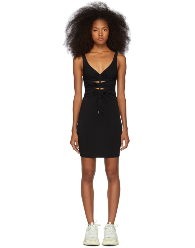 photo Black Crepe Jersey Dress by alexanderwang.t - Image 1