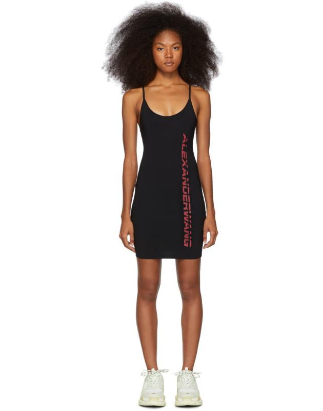 photo Black Swim Jersey Dress by alexanderwang.t - Image 1