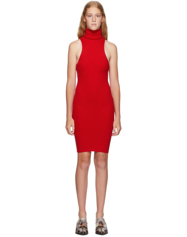 photo Red Nonna Mini Dress by giu giu - Image 1