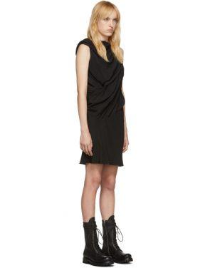 photo Black Silk Knot Tunic Dress by Rick Owens - Image 2