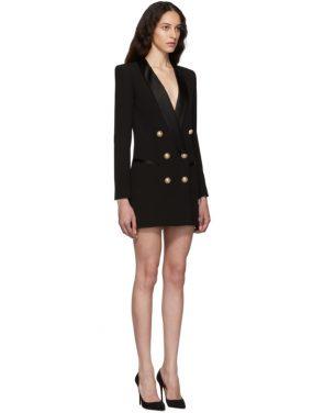 photo Black Crepe Jacket Dress by Balmain - Image 2