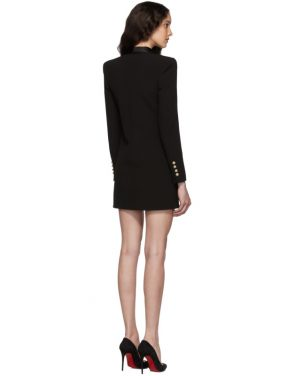 photo Black Crepe Jacket Dress by Balmain - Image 3