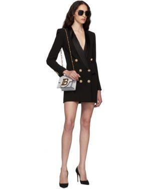 photo Black Crepe Jacket Dress by Balmain - Image 5