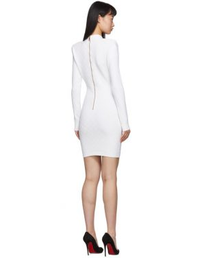 photo White Knit Short Dress by Balmain - Image 3