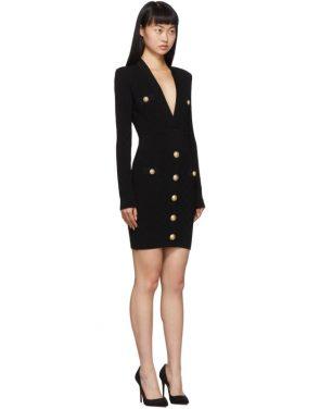 photo Black Knit Short Dress by Balmain - Image 2
