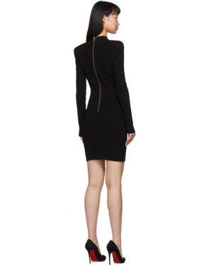 photo Black Knit Short Dress by Balmain - Image 3