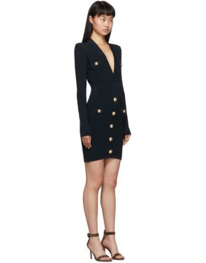 photo Navy Knit Short Dress by Balmain - Image 2