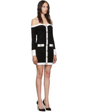 photo Black Velvet Contrast Dress by Balmain - Image 2