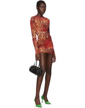 photo Orange Skin Mesh Dress by Mowalola - Image 5