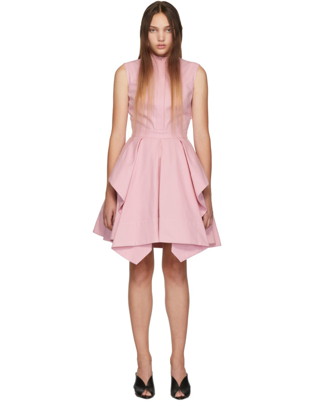 photo Pink Ruffle Dress by Alexander McQueen - Image 1