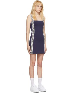 photo Navy Logo Mini Dress by Opening Ceremony - Image 2