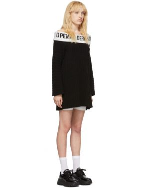 photo Black Off-The-Shoulder Dress by Opening Ceremony - Image 2