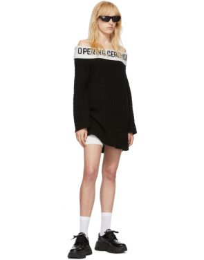 photo Black Off-The-Shoulder Dress by Opening Ceremony - Image 5