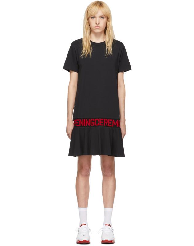 photo Black OC Logo T-Shirt Dress by Opening Ceremony - Image 1