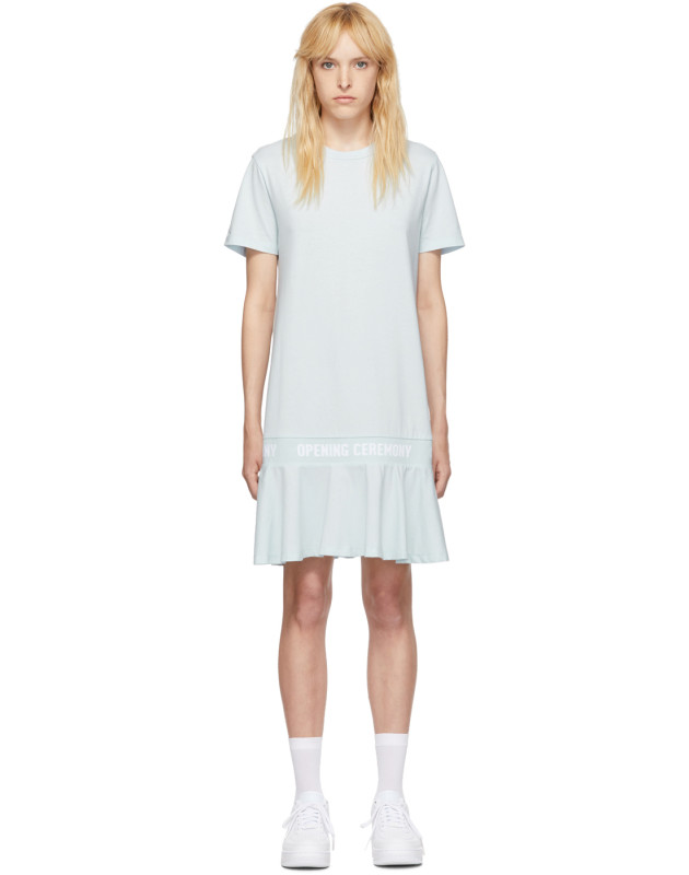 photo Blue OC Logo T-Shirt Dress by Opening Ceremony - Image 1