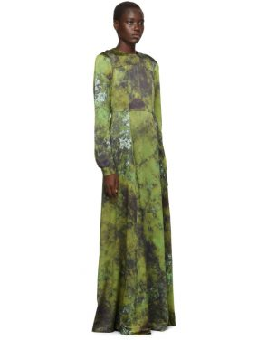 photo Green SOTO Silk Long Prairie Dress by S.R. STUDIO. LA. CA. - Image 2
