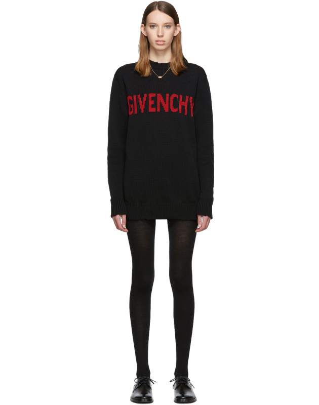 photo Black and Red Logo Crewneck Dress by Givenchy - Image 1