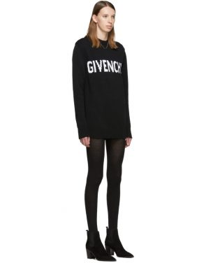 photo Black and White Logo Crewneck Dress by Givenchy - Image 2