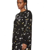 photo Black Floral T-Shirt Dress by Givenchy - Image 4