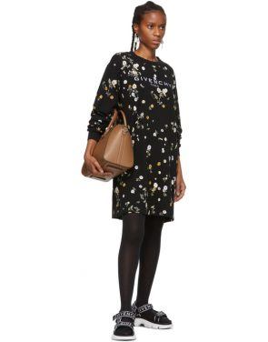 photo Black Floral T-Shirt Dress by Givenchy - Image 5