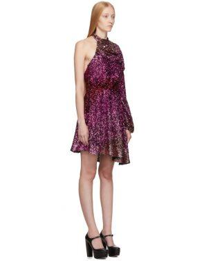 photo Pink Degrade Sequin Single-Shoulder Dress by Halpern - Image 2