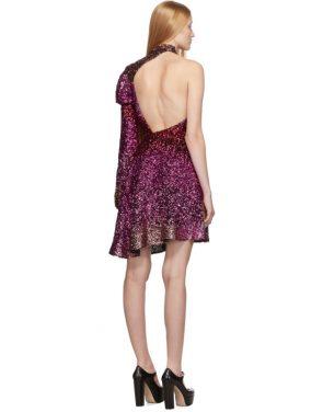 photo Pink Degrade Sequin Single-Shoulder Dress by Halpern - Image 3