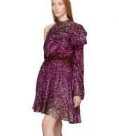 photo Pink Degrade Sequin Single-Shoulder Dress by Halpern - Image 4