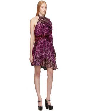 photo Pink Degrade Sequin Single-Shoulder Dress by Halpern - Image 5