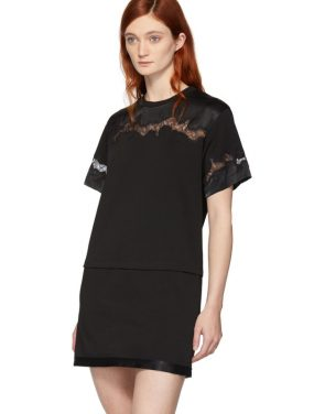 photo Black Lace Insert T-Shirt Dress by 3.1 Phillip Lim - Image 4