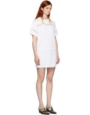 photo White Lace Insert T-Shirt Dress by 3.1 Phillip Lim - Image 2