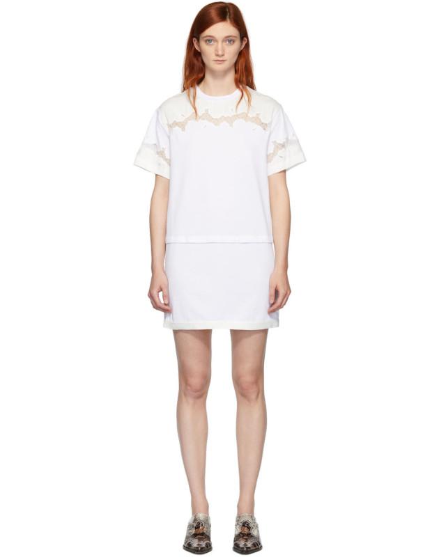 photo White Lace Insert T-Shirt Dress by 3.1 Phillip Lim - Image 1