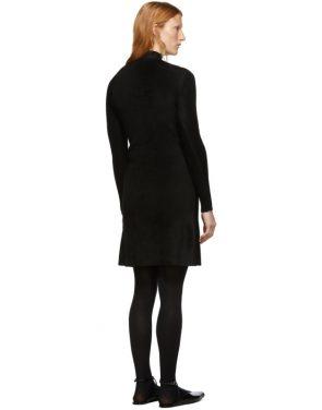 photo Black Knit A-Line Dress by Balenciaga - Image 3