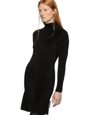 photo Black Knit A-Line Dress by Balenciaga - Image 4