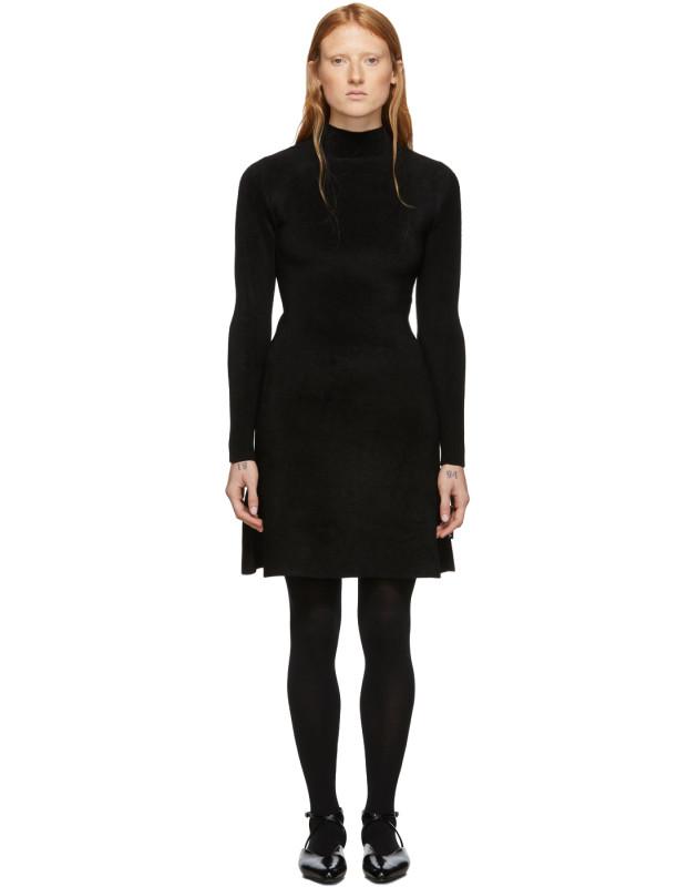 photo Black Knit A-Line Dress by Balenciaga - Image 1