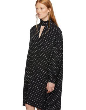 photo Black BB Vareuse Dress by Balenciaga - Image 4