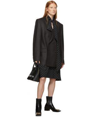 photo Black BB Vareuse Dress by Balenciaga - Image 5