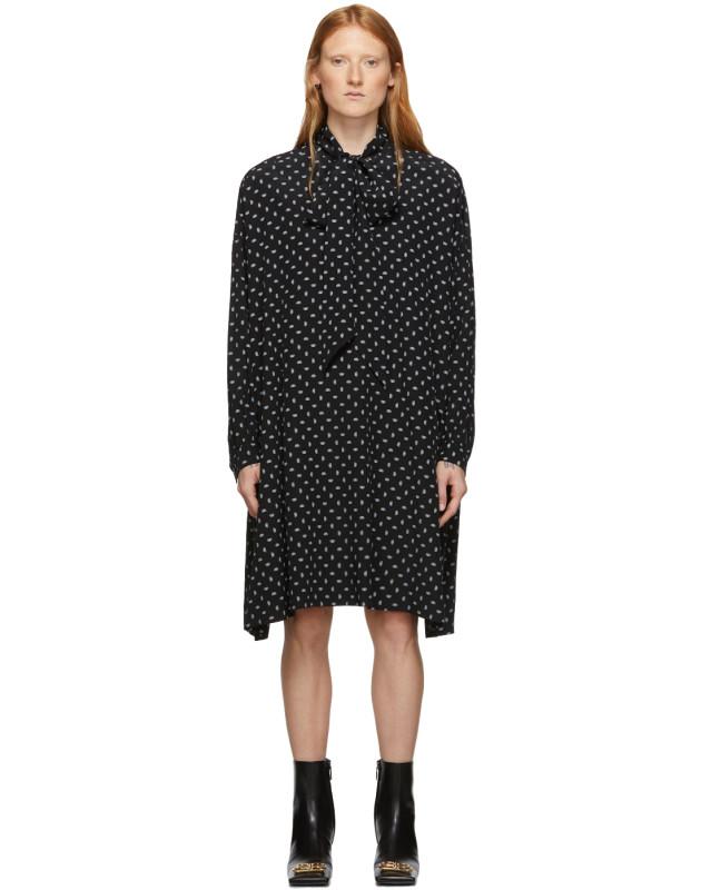 photo Black BB Vareuse Dress by Balenciaga - Image 1