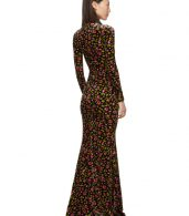 photo Black Velvet Evening Long Dress by Balenciaga - Image 3