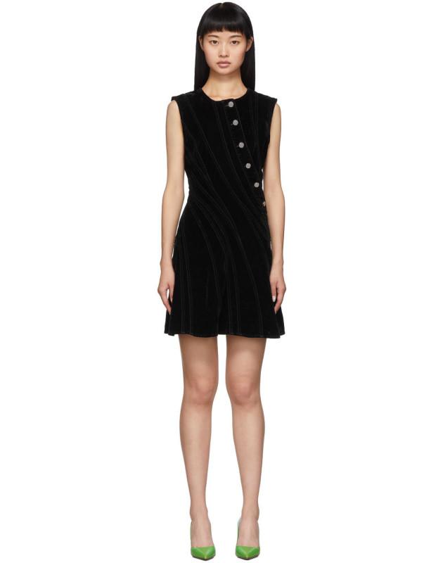 photo Black Spiral Dress by Mugler - Image 1