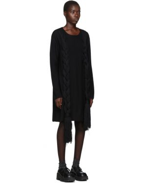 photo Black Worsted Yarn Braid Dress by Comme des Garcons Homme Plus - Image 2