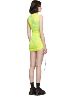 photo Yellow SL Mesh Mini Dress by Louisa Ballou - Image 3