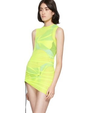 photo Yellow SL Mesh Mini Dress by Louisa Ballou - Image 4