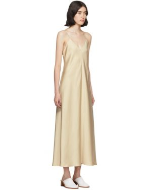 photo Tan Silk Guinevere Dress by The Row - Image 2