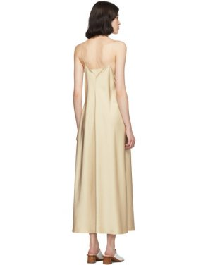 photo Tan Silk Guinevere Dress by The Row - Image 3
