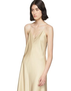 photo Tan Silk Guinevere Dress by The Row - Image 4