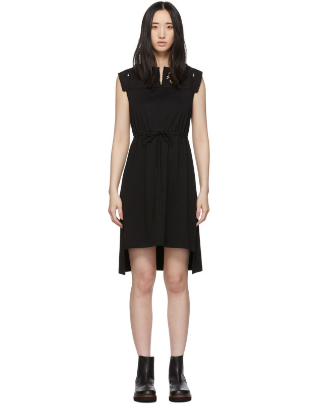 photo Black Embellished T-Shirt Dress by See by Chloe - Image 1