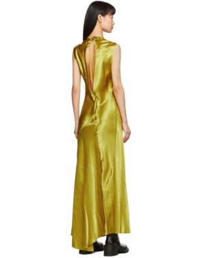 photo Yellow Keyhole Dress by Ann Demeulemeester - Image 3